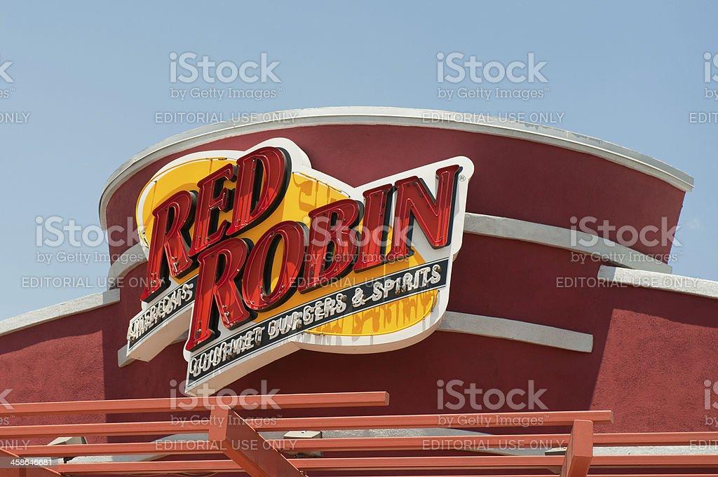 Red Robin Restaurant Sign stock photo