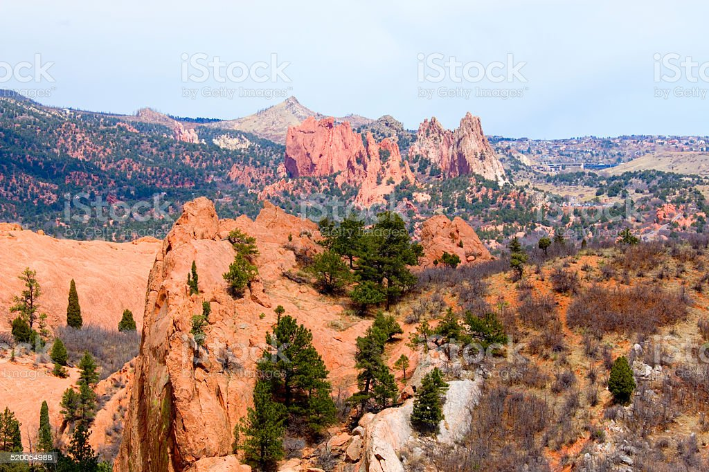 Red Rock and Garden of the Gods stock photo