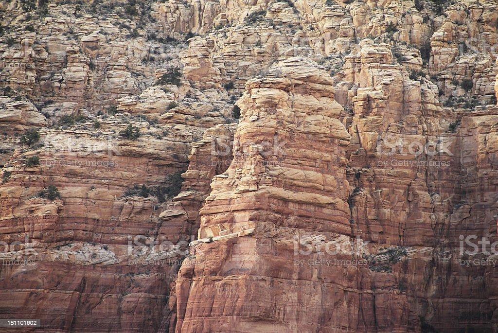 Red Rock Arizona Close Up royalty-free stock photo