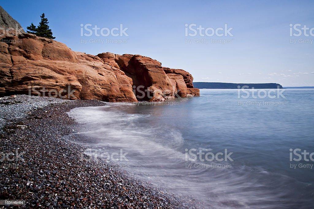 Red Rock beach stock photo