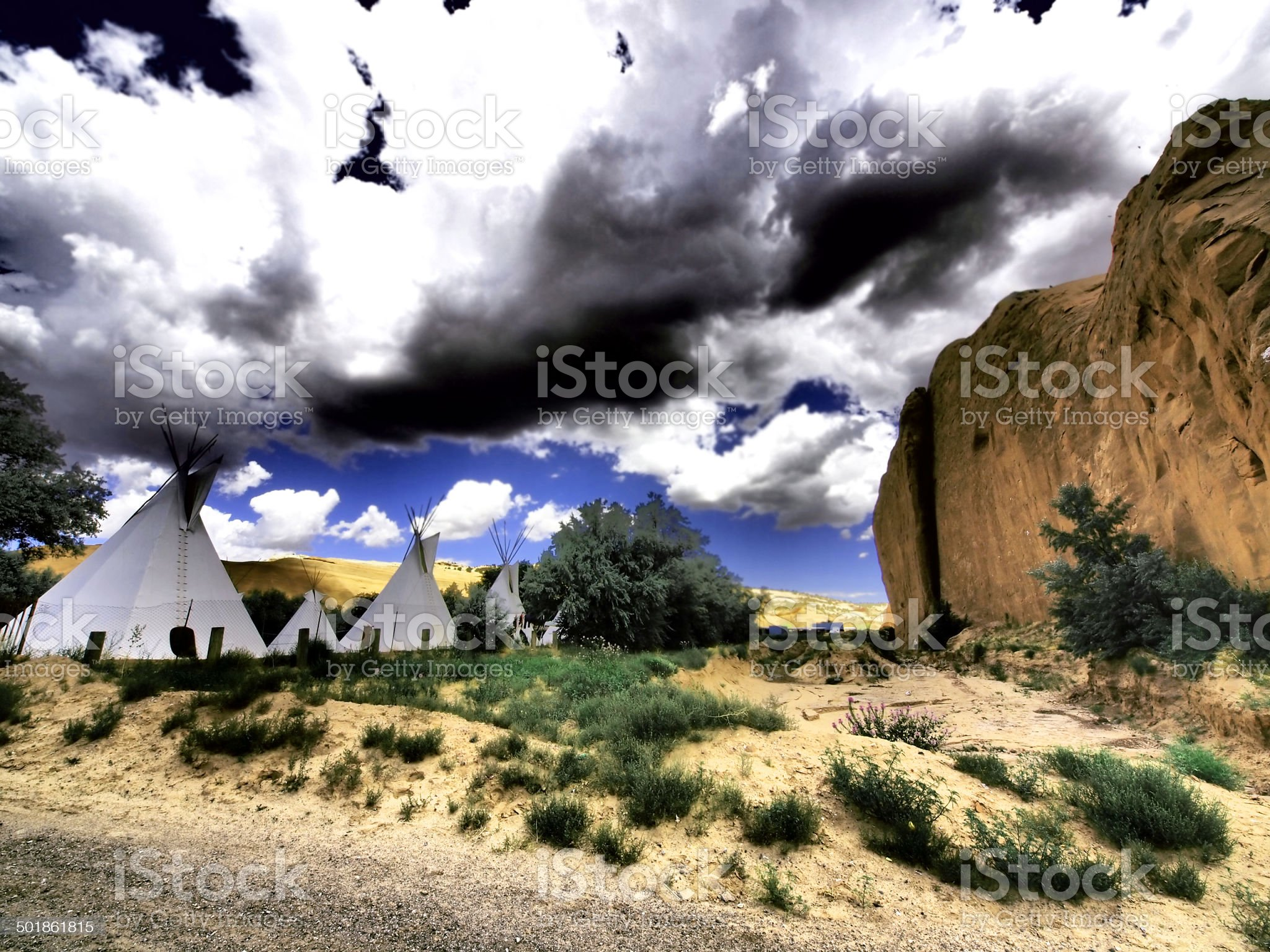 Red rock camp royalty-free stock photo