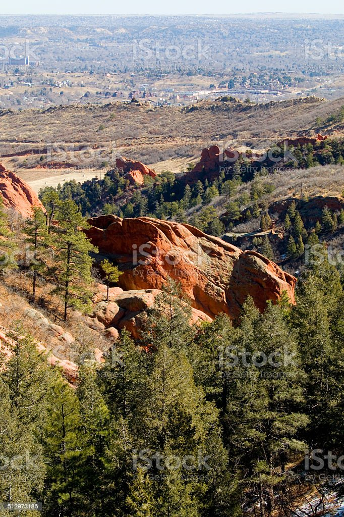 Red Rock Canyon and Colorado Springs stock photo