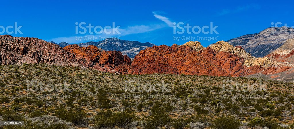 Red Rock Canyon Area, Las Vegas stock photo