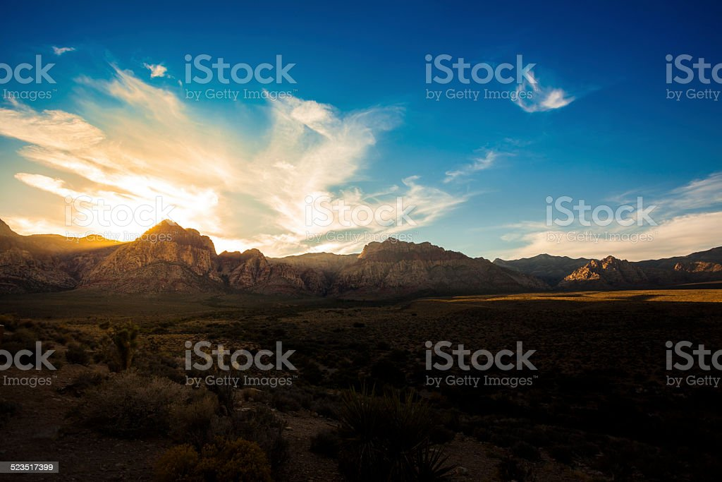 Red Rock Canyon at Sunset stock photo