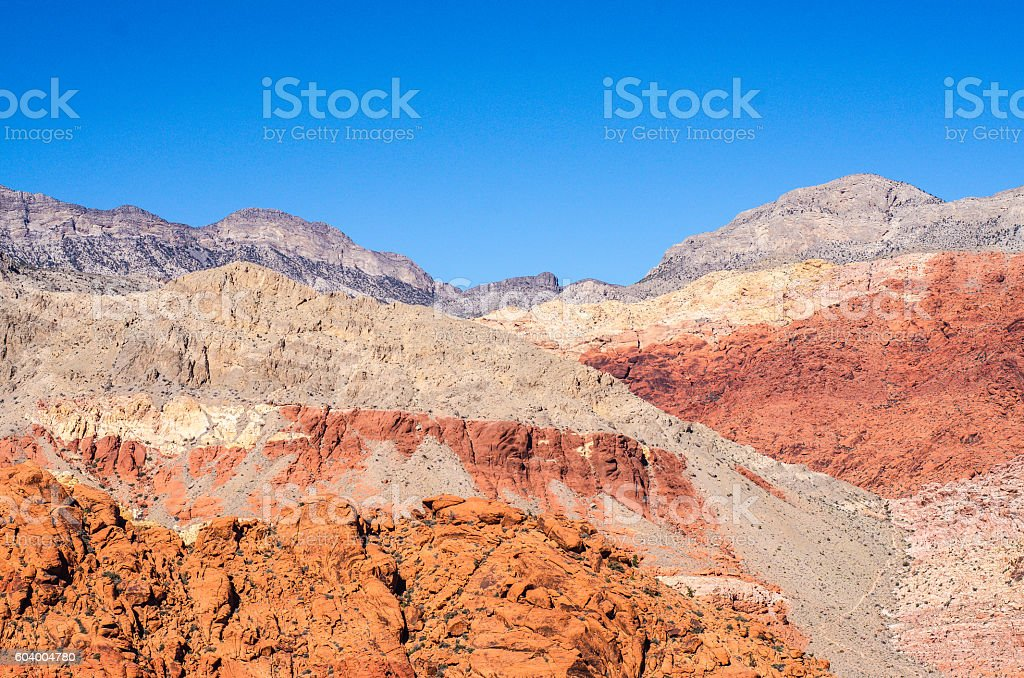 Red rock canyon background stock photo