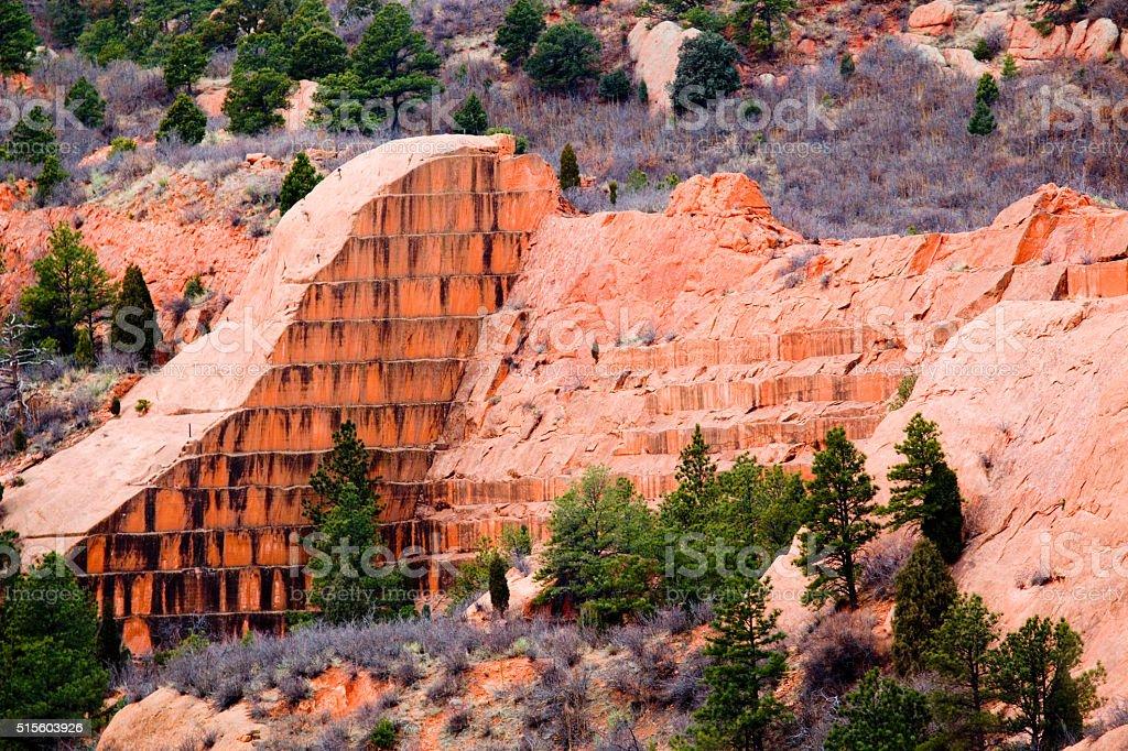 Red Rock Canyon Colorado Springs stock photo