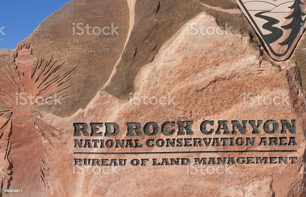 Red Rock Canyon - Las Vegas royalty-free stock photo