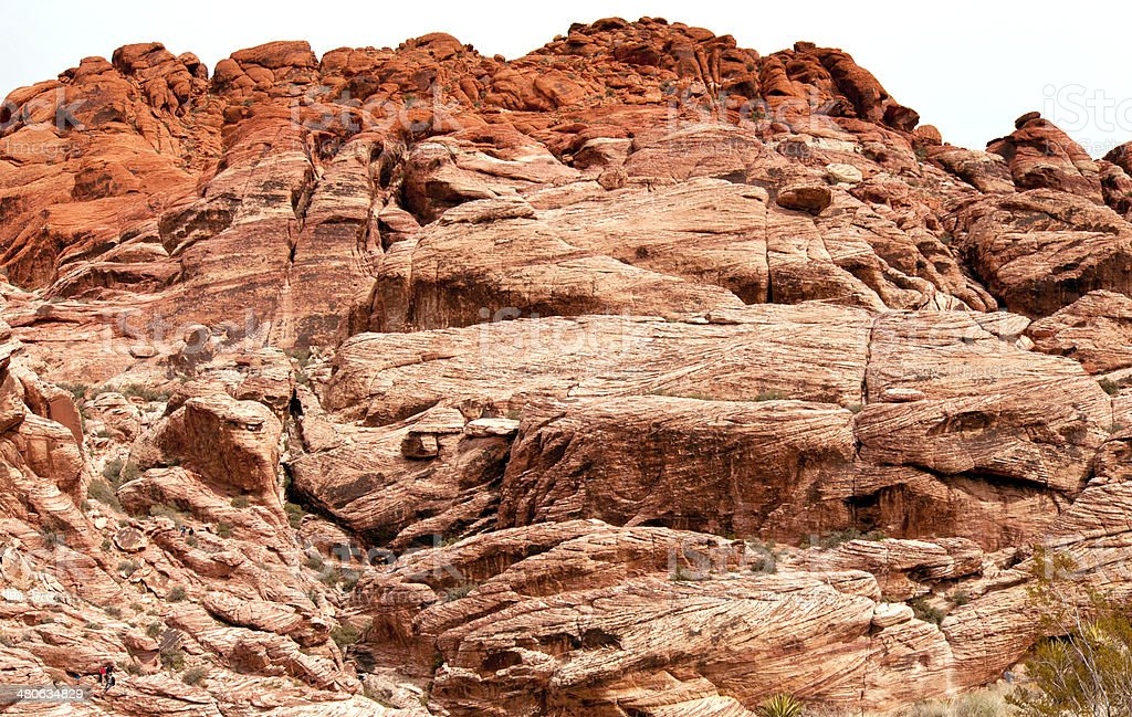 Red Rock Canyon near Las Vegas Rockformation Close-up. royalty-free stock photo