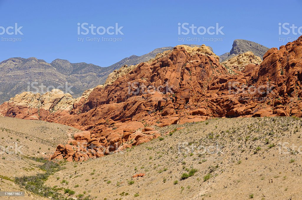 Red Rock Canyon, Nevada Desert royalty-free stock photo