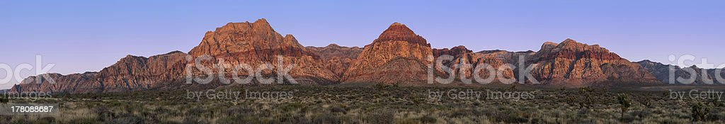 Red Rock Canyon pano royalty-free stock photo