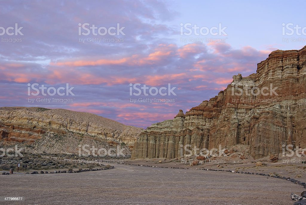 Red Rock Canyon State Park in Southern California stock photo