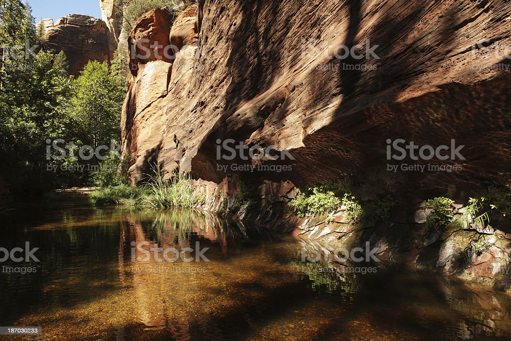 Red Rock Canyon Wilderness Desert Oasis royalty-free stock photo