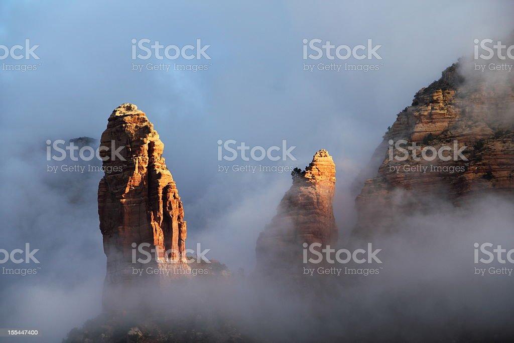 Red Rock Clouds Sedona Arizona stock photo