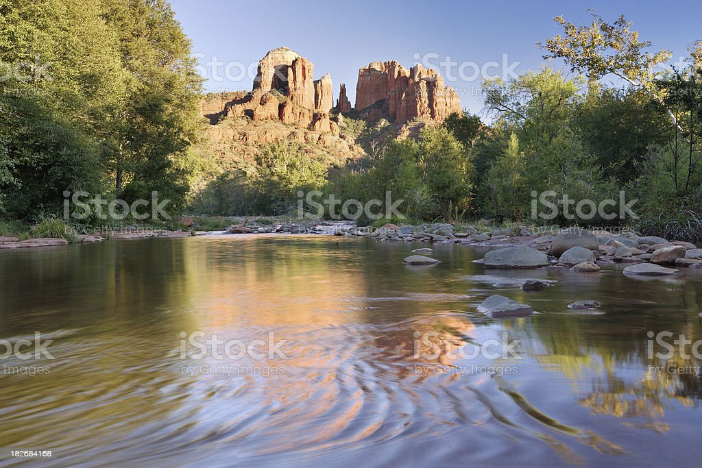Red rock crossing royalty-free stock photo