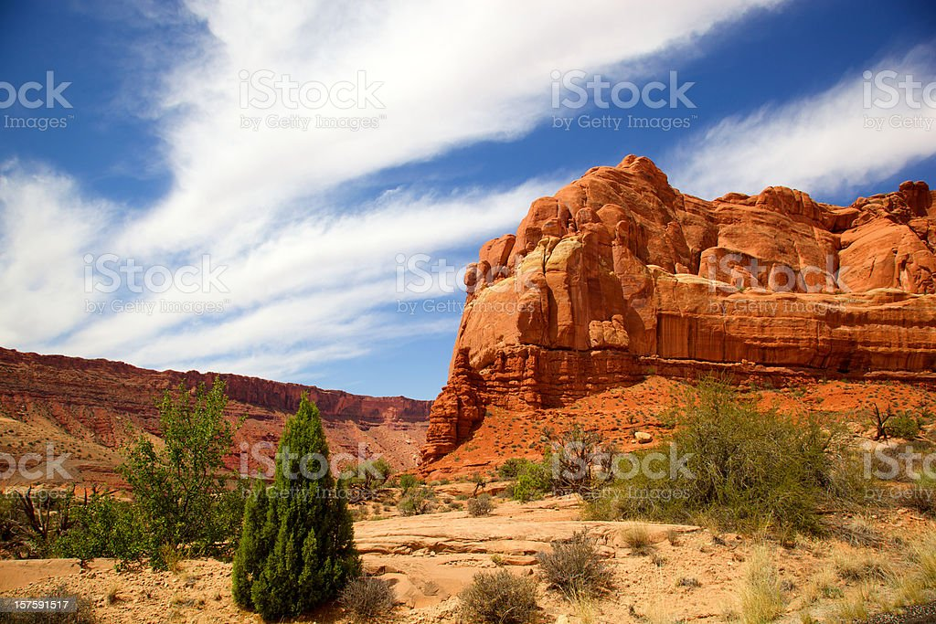 Red Rock Formation at Arches National Park royalty-free stock photo