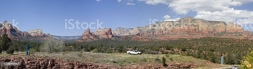 Red rock formation at Sedona Arizona panorama royalty-free stock photo