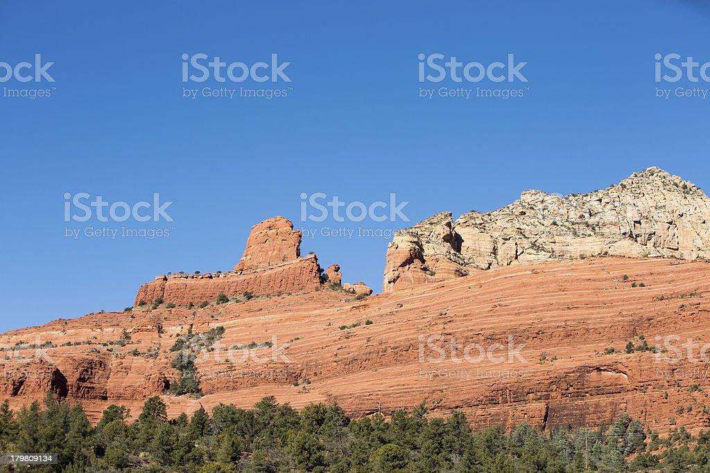 Red Rock Formations in Sedona, Arizona royalty-free stock photo