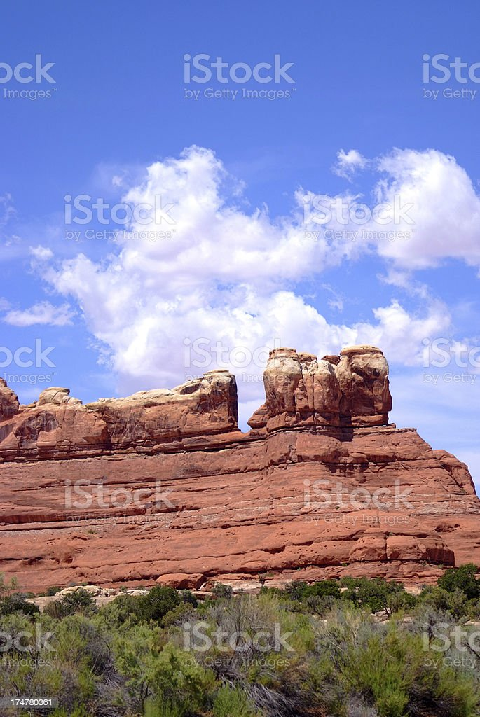Red rock formations royalty-free stock photo