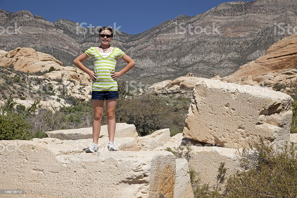 Red Rock Hike royalty-free stock photo