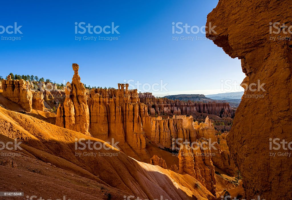 Red Rock Hoodoo Formations stock photo