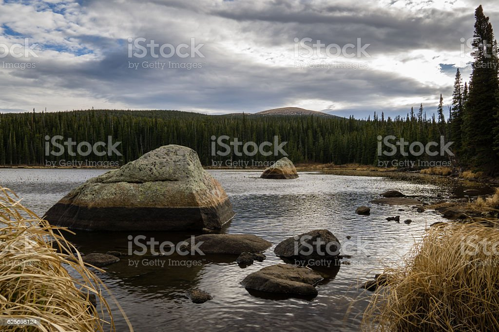 Red Rock Lake stock photo