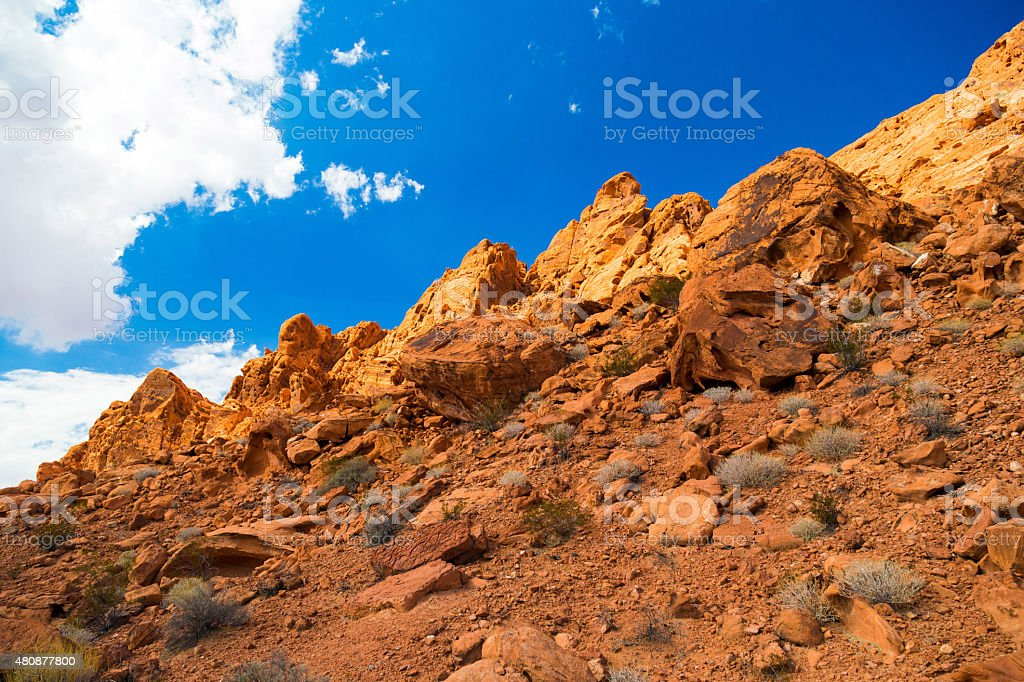 Red Rock Landscape in Valley of Fire State Park stock photo
