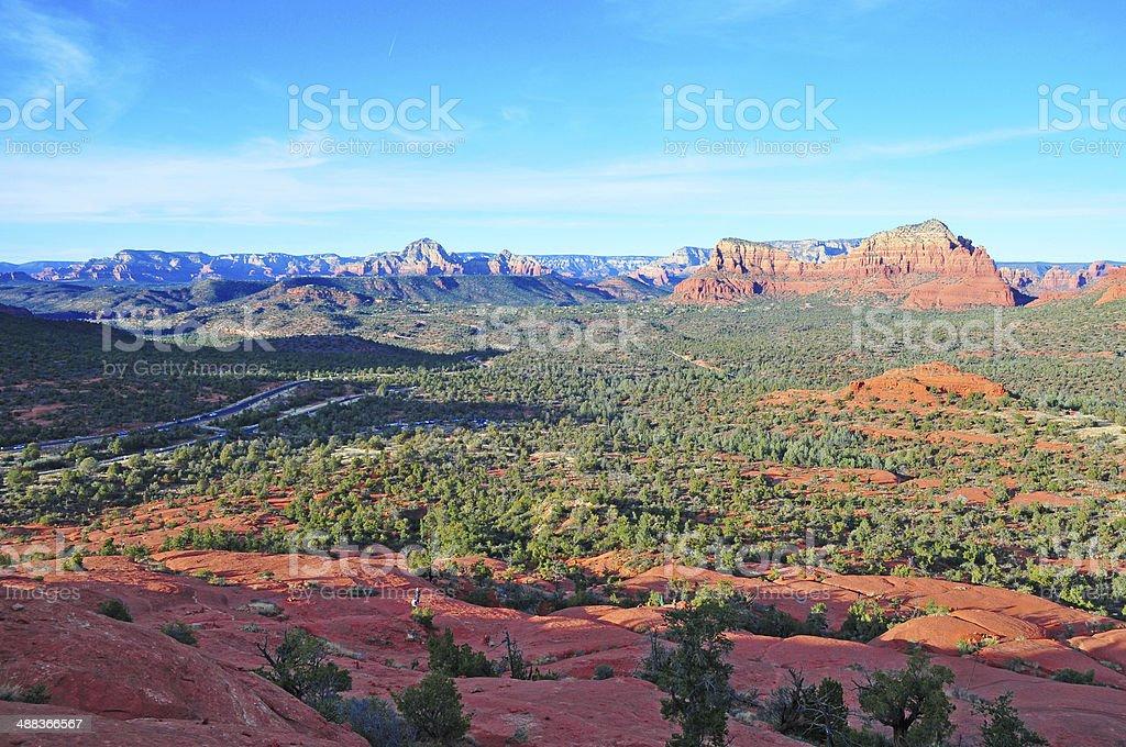 Red Rock Landscape of Sedona Arizona, USA stock photo