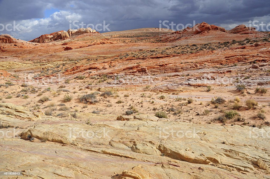 Red Rock Landscape, Valley of Fire, Nevada, USA royalty-free stock photo