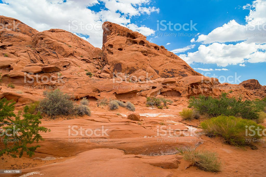 Red Rock Landscape, Valley of Fire State Park stock photo