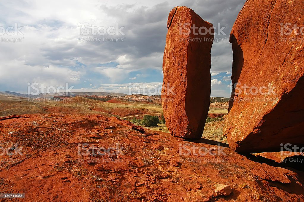 Red Rock Monolith royalty-free stock photo