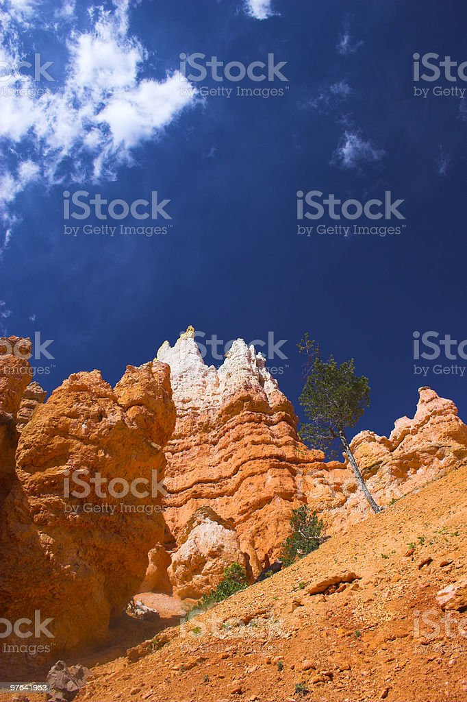 Red rock of Bryce royalty-free stock photo