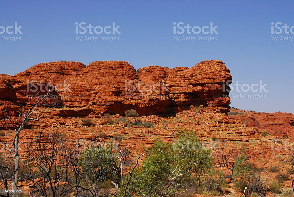 Red rock outcropping royalty-free stock photo