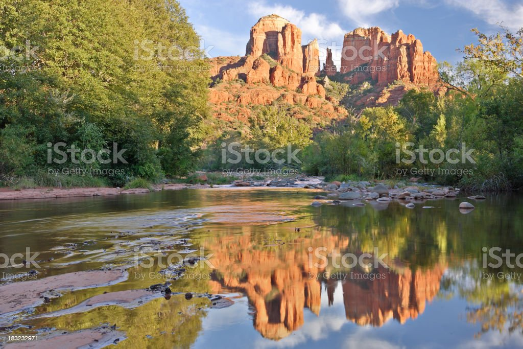 Red Rock Reflection royalty-free stock photo