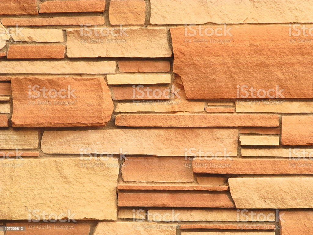 Red Rock Stone Siding royalty-free stock photo