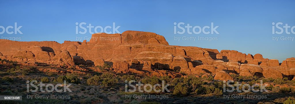 Red Rock Panorama tramonto foto stock royalty-free