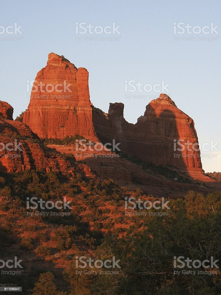 Red Rock Sunset royalty-free stock photo