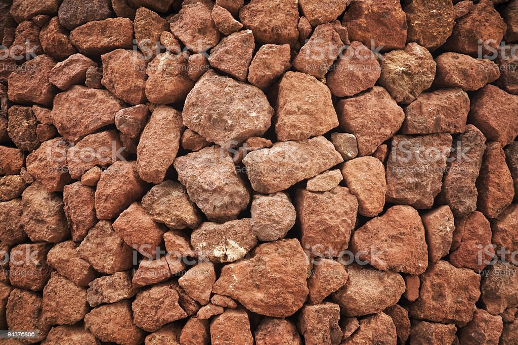 Red rock surface stock photo