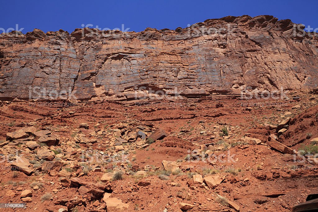 red rock wall royalty-free stock photo