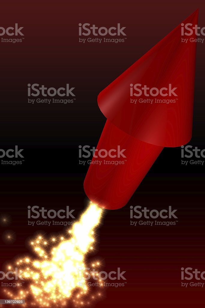 Red rocket royalty-free stock photo