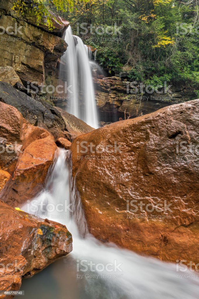 Red Rocks at Douglas Falls - West Virginia stock photo