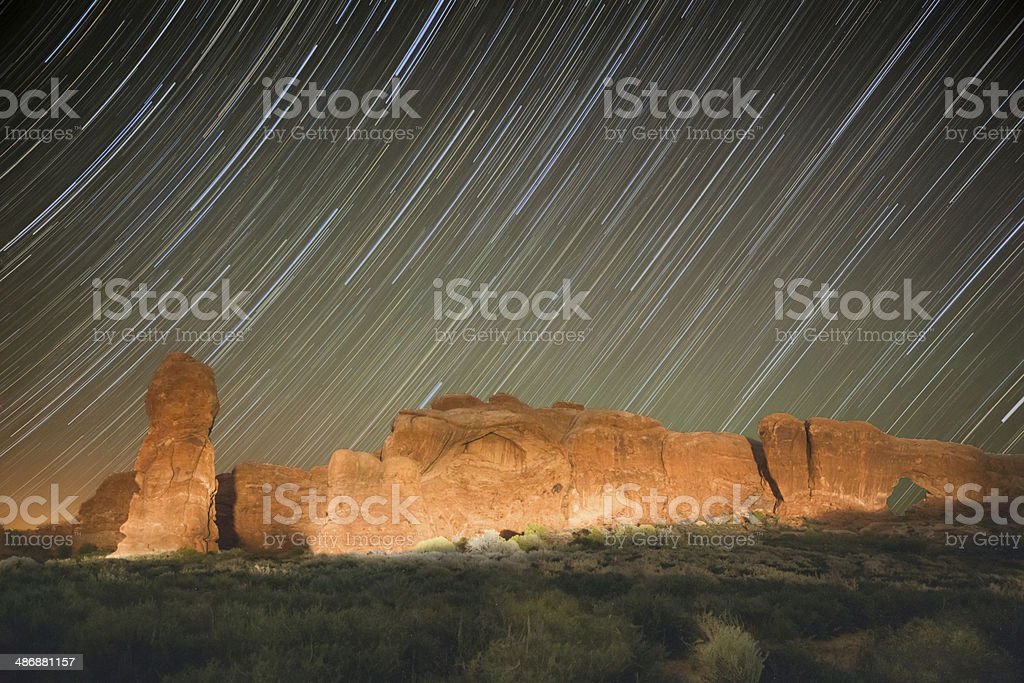 Red Rocks at Night royalty-free stock photo