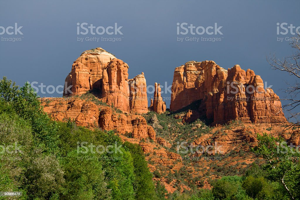 Red Rocks before the storm royalty-free stock photo