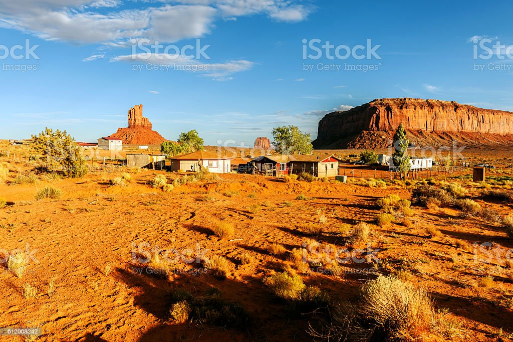 Red Rocks in Monument Valley, Arizona, USA stock photo