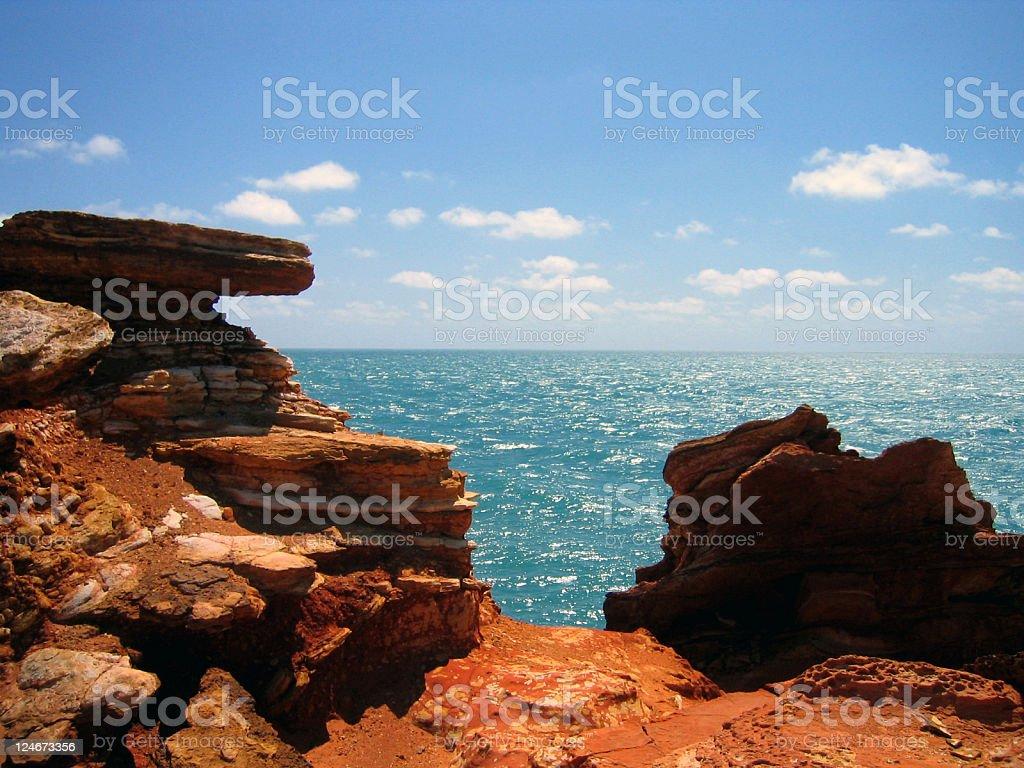 Red rocks of the Kimberley Coast royalty-free stock photo