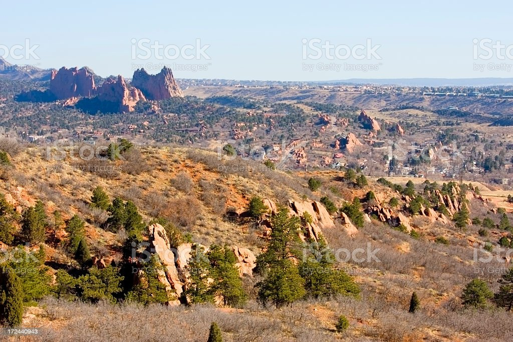 Red Rocks Open Space and Garden of the Gods royalty-free stock photo