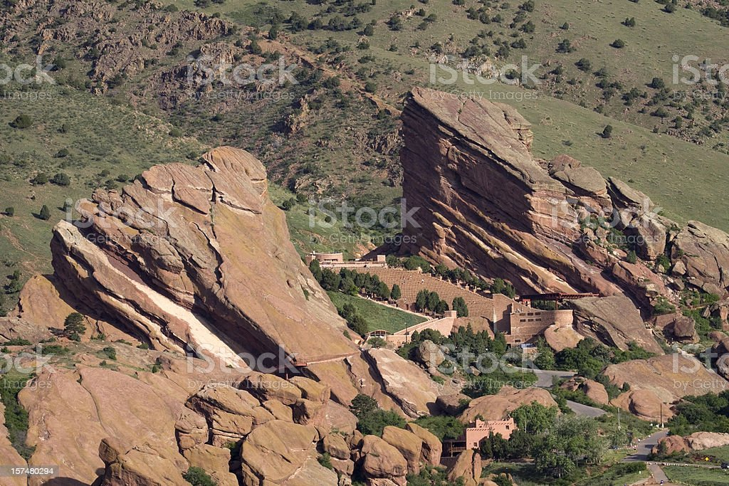Red Rocks Park and Theater, Colorado royalty-free stock photo
