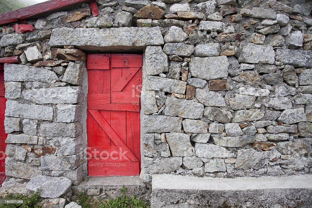 Red & Rocks stock photo