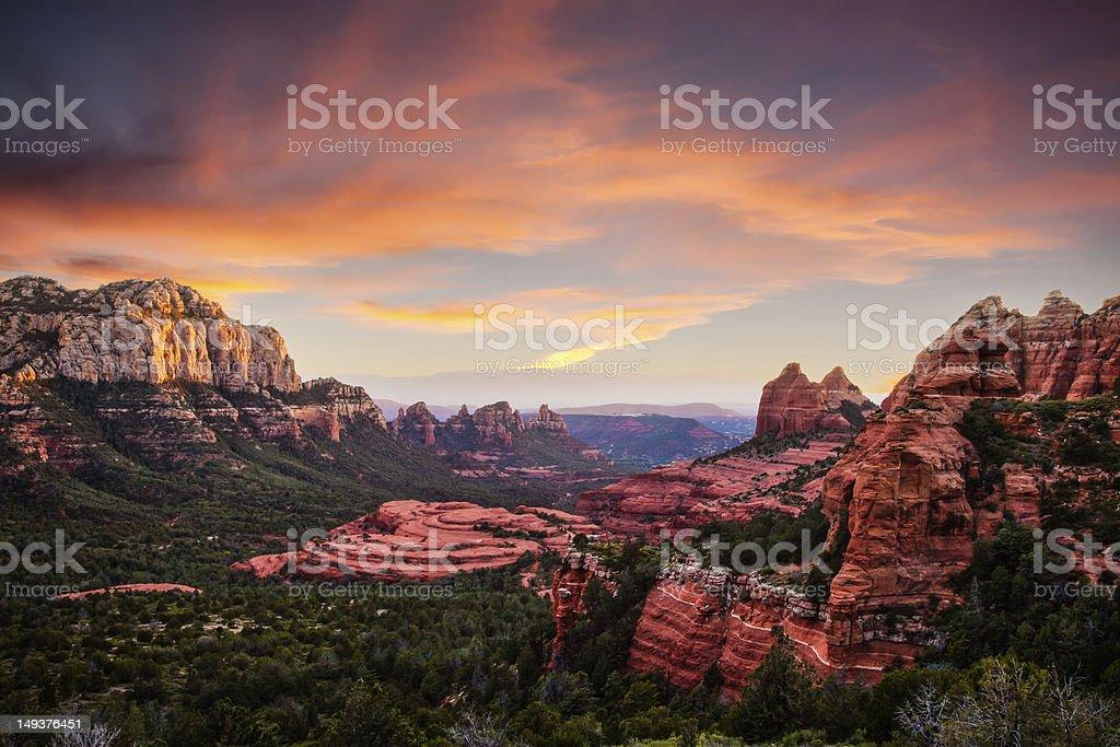 Red Rocks Sunset Sedona stock photo