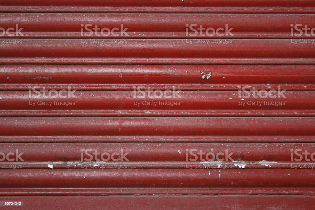 Red rolled  Gate royalty-free stock photo