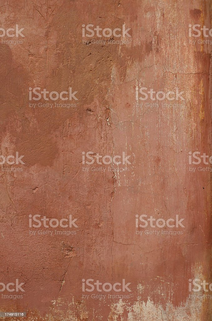 Red Roman grunge wall, Rome Italy royalty-free stock photo